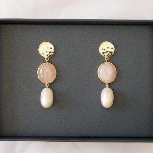 J. CREW Demi-Fine: Marble Drop Earrings